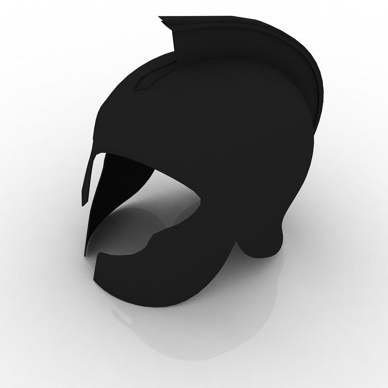spartan helmet 3d dxf