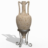 3d amphora ancient greek