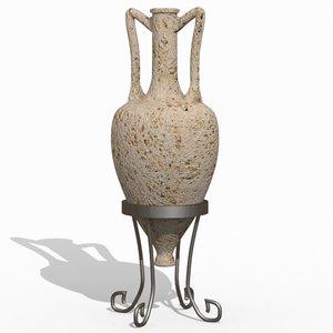 3d amphora ancient greek