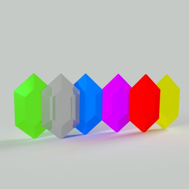 3d model gems currency zelda