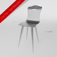 metal chair 3d max