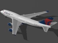 B 747-400 Delta Air Lines
