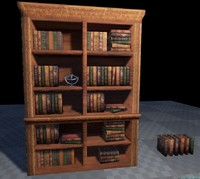 Bookcase and Books