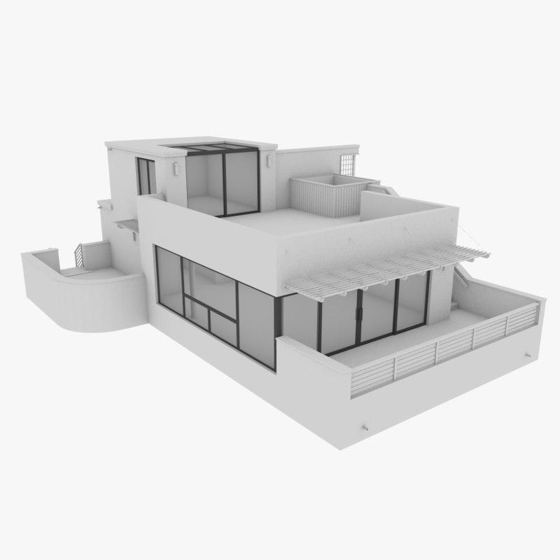3d modern home house model