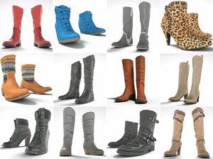 3d footwear woman boot
