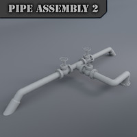 pipe assembly 3d max