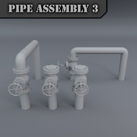pipe assembly 3d model