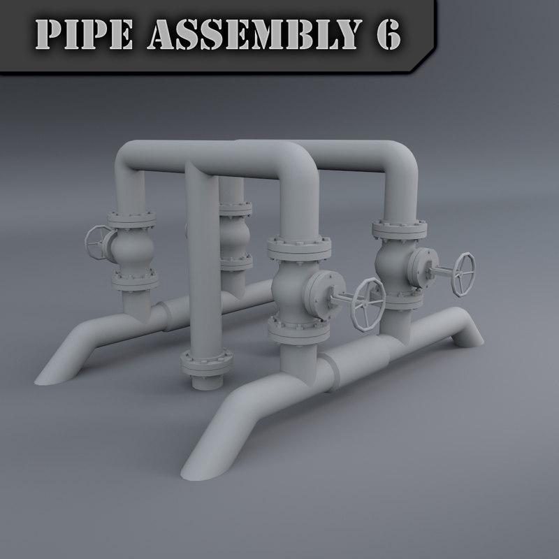 pipe assembly obj