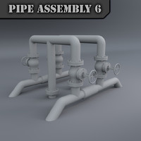 pipe assembly obj