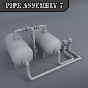 3d pipe assembly model