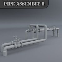 3d model pipe assembly