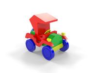 wooden car toy 3d max