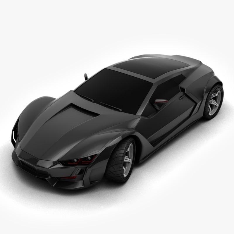 concept car katapulta 3d model