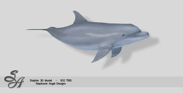 realistic bottle-nose dolphin 3d max