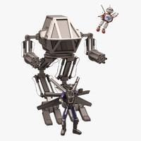 robot set 3d max