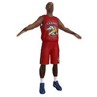 3d basketball player