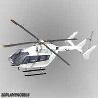 3d eurocopter ec 145 ec-145 model