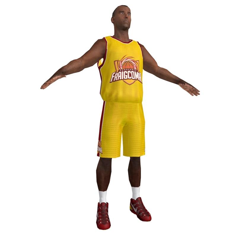 3d model basketball player 2