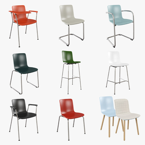 3d model vitra hal chair
