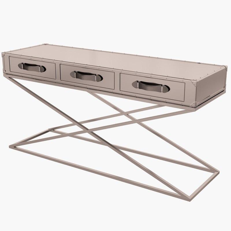 eichholtz table console barclay 3d model