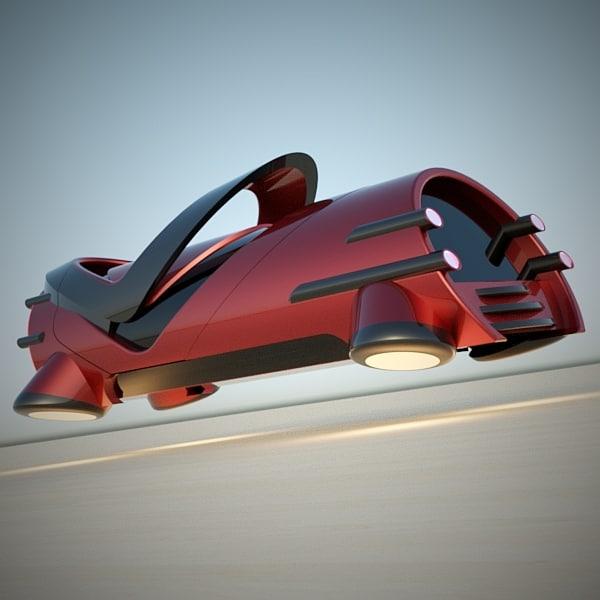 futuristic vehicle hover car 3d model