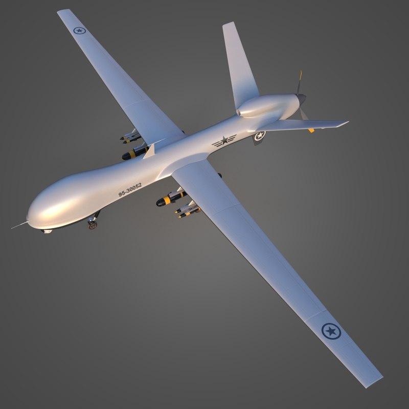 Military Drone Uav 3d Model