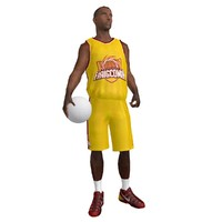 Basketball Player 2 LOD1 Rigged