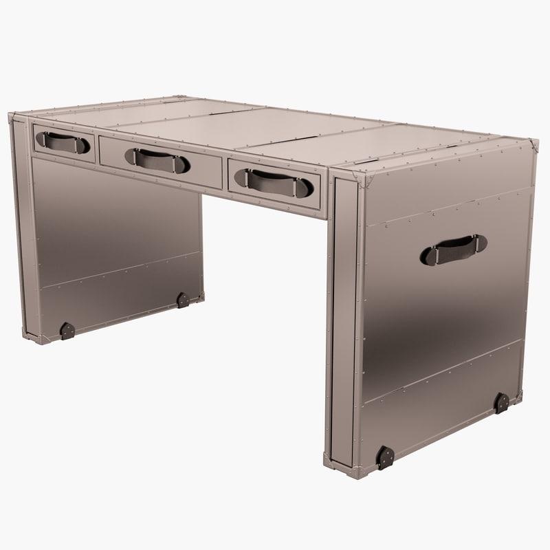 eichholtz desk catalina 3d model