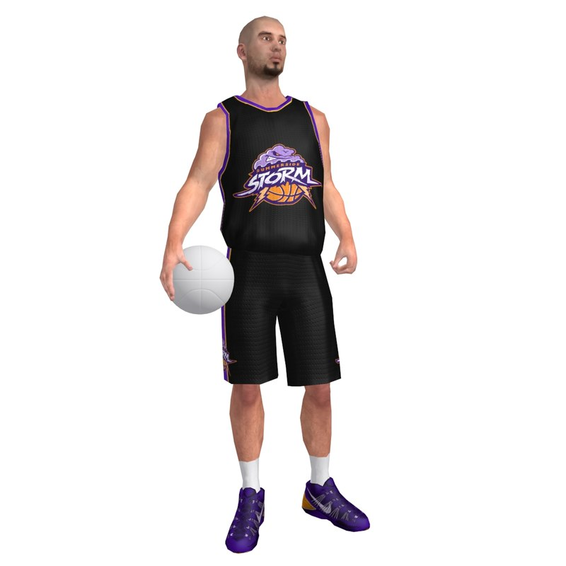 3ds max rigged basketball player ball