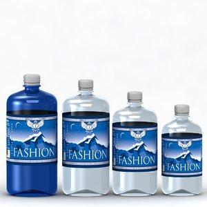 3d ftv water bottle