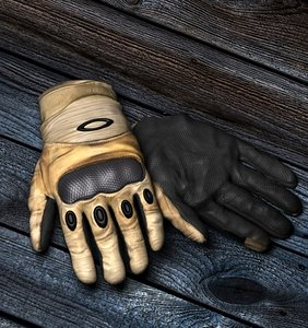 3d gloves model