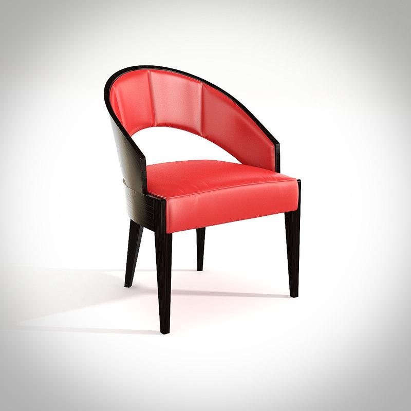 philipp selva chair peggy 3d obj