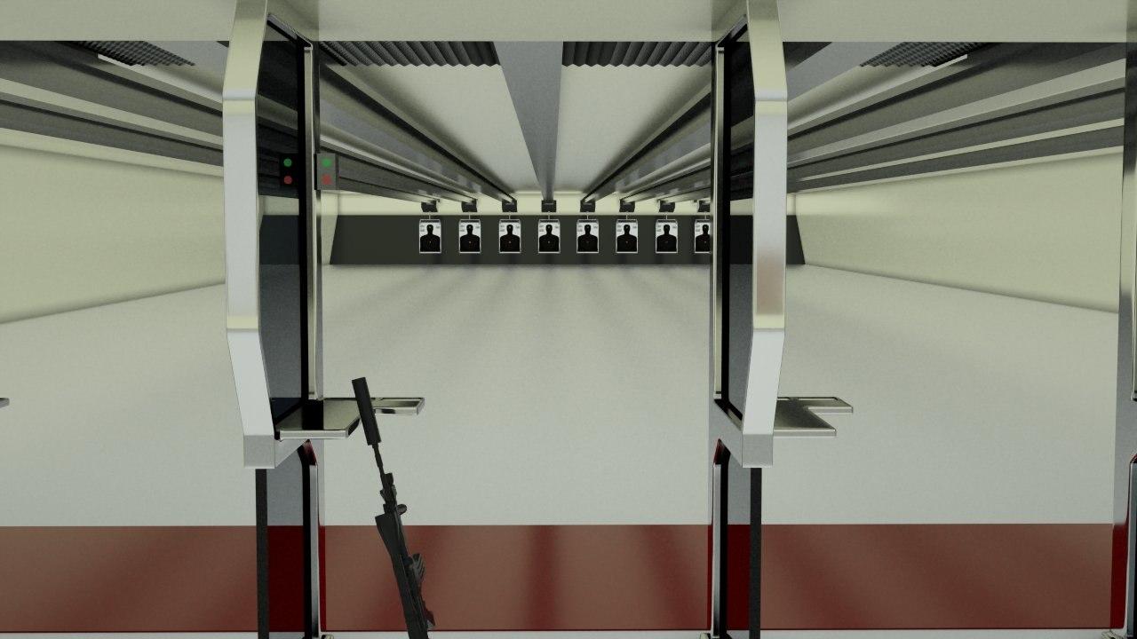 shooting range obj