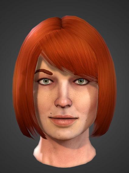 3dsmax female realtime head