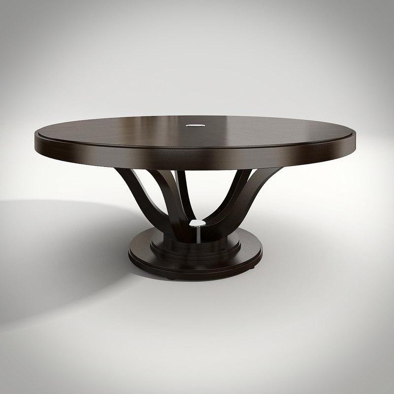 3d model philipp selva dining table