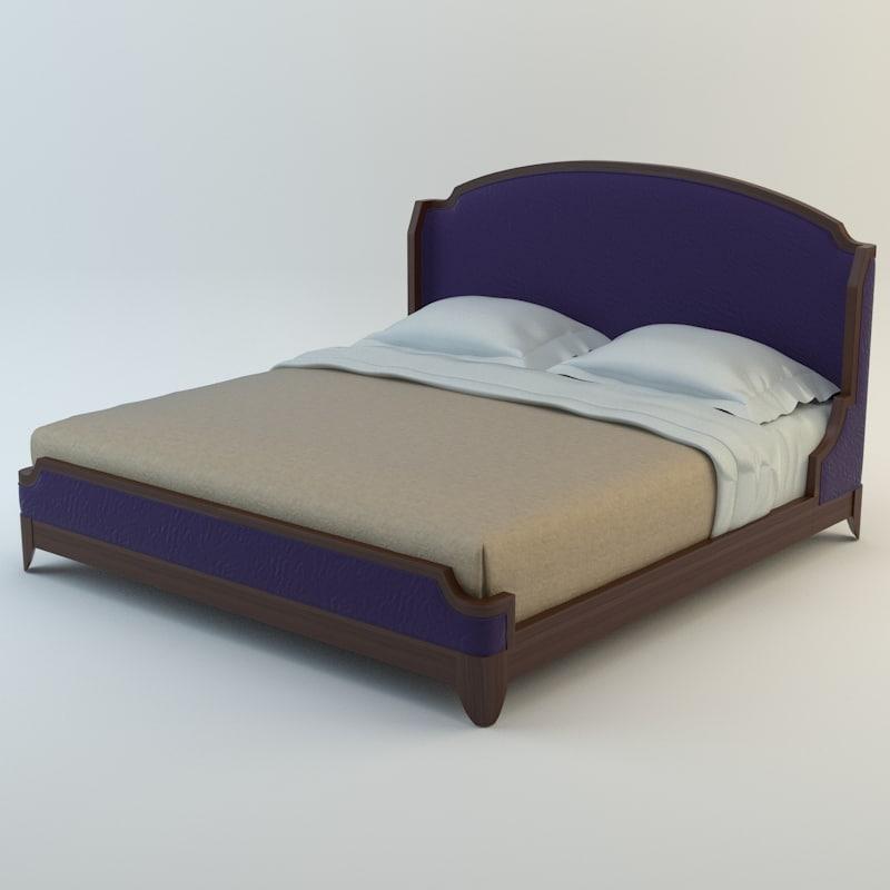 baker arabesque bed 3d model
