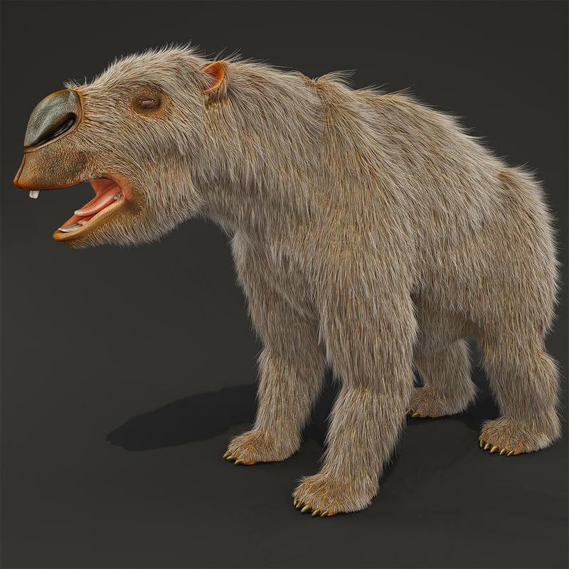 max diprotodon fur