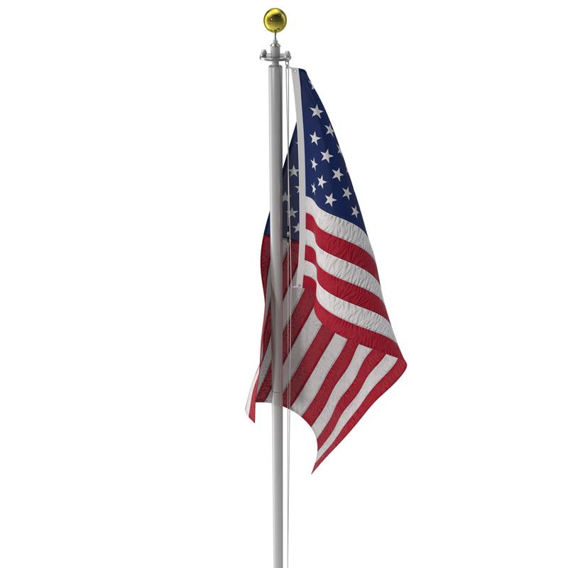 3ds flagpole 3