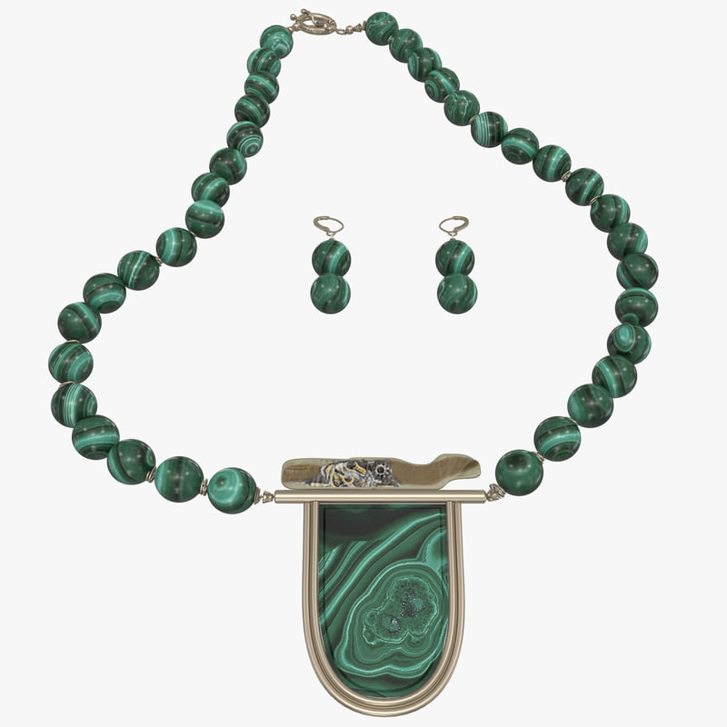 malachite jewelry 3d 3ds