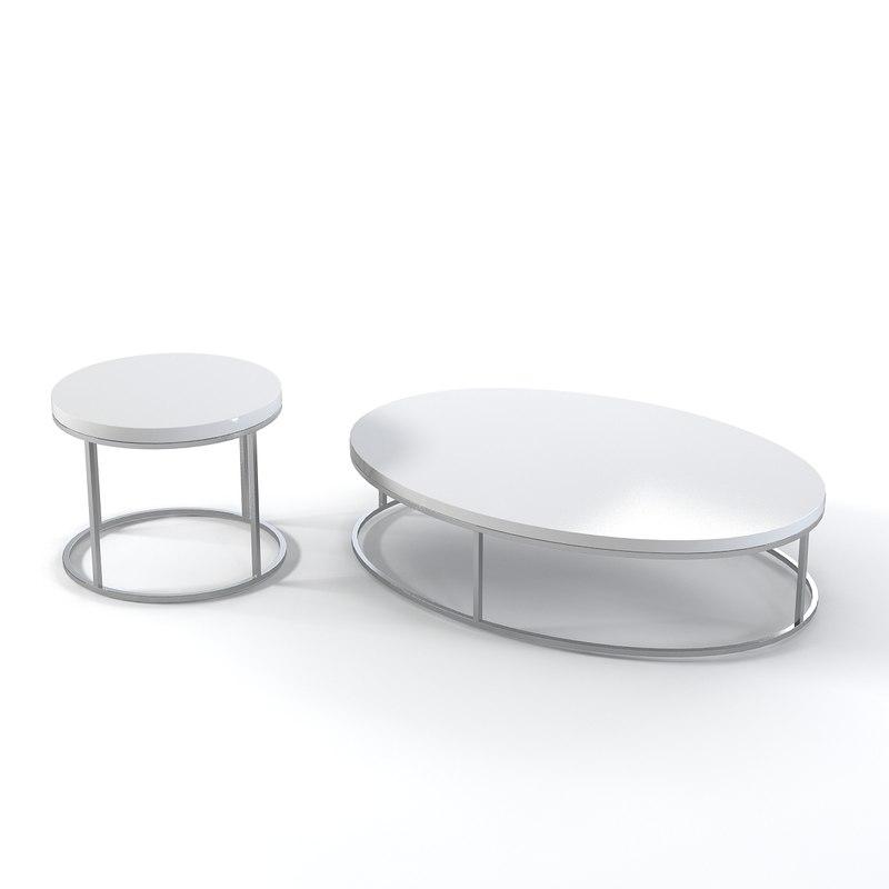 3d coffe table set model