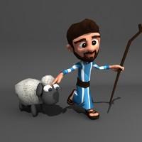 3dsmax animation shepherd