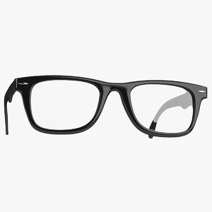 3d realistic hipster glasses model