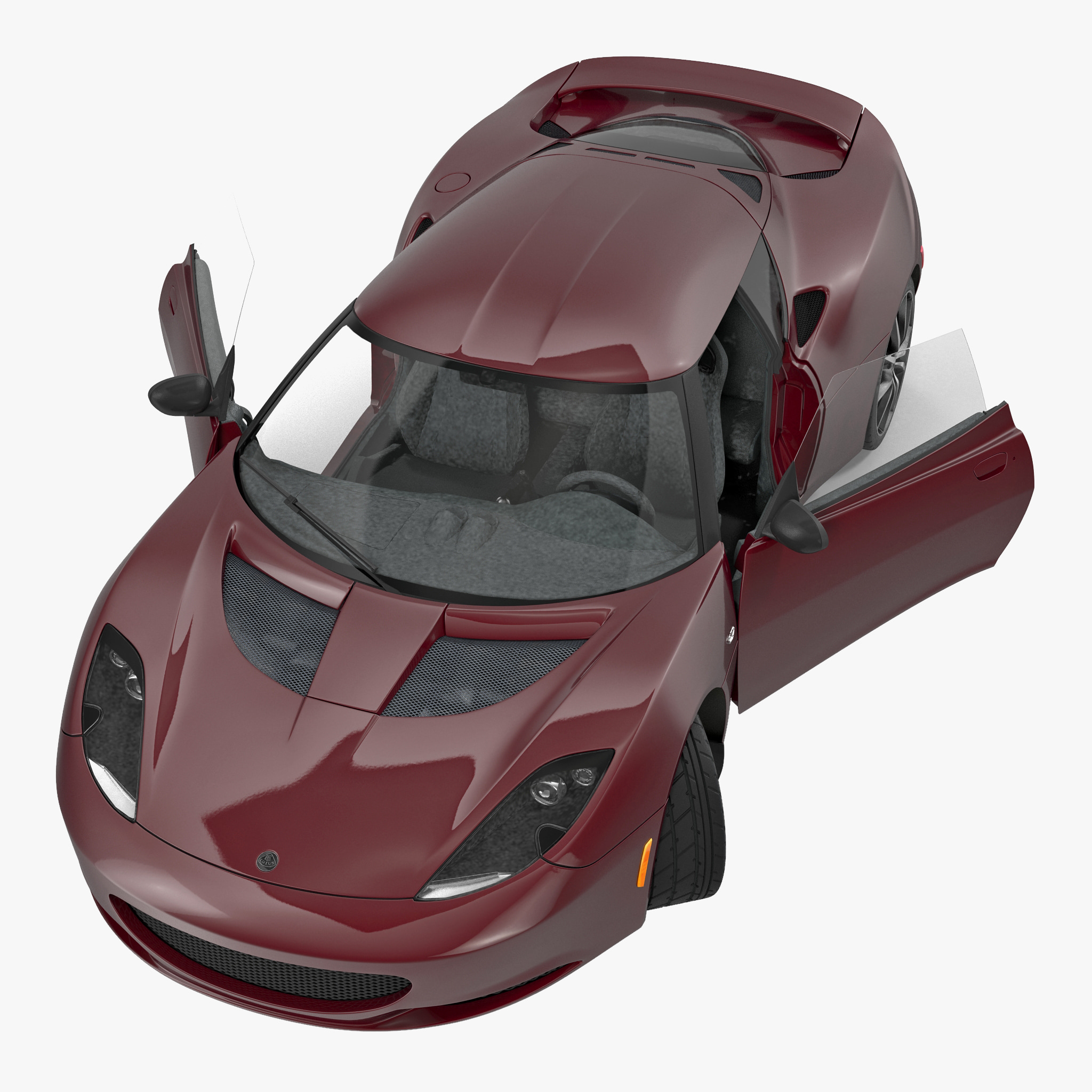 evora ips 2014 rigged 3d model