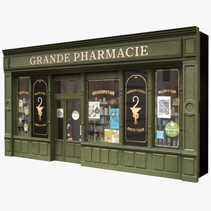typical paris shop pharmacy lwo