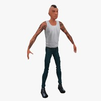 3d stylized cartoon punk