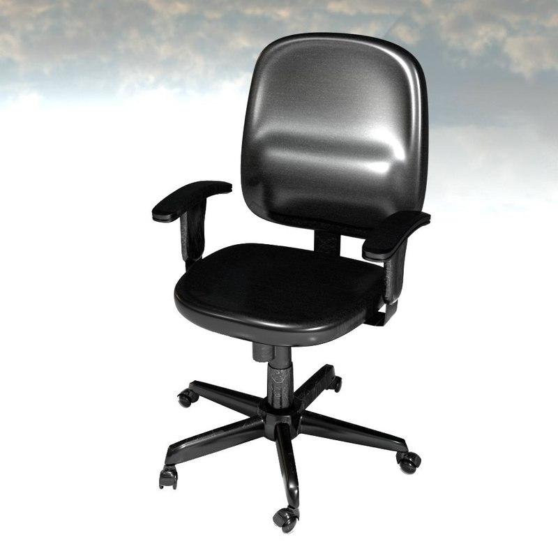 computer chair 3d obj