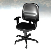 computer chair 3d obj