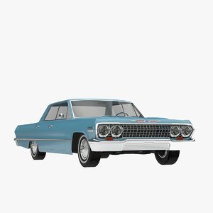 impala sedan 1963 3d model