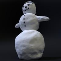 3d snowman winter