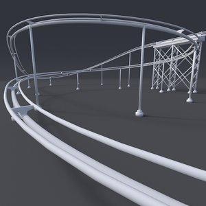 c4d roller coaster